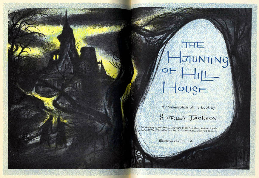 The haunting 1963 by robert wise books the haunting of hill house usa 1960 readers digest edition illustrations by ben fandeluxe Gallery
