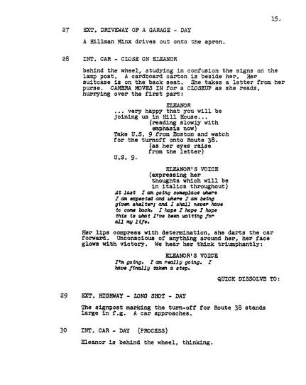 The Haunting, 1963, Screenplay, early version, page 15, clean PDF